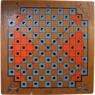 "1940s Game Board ""Naval Strategy"", by West Coast Picture Corp., Portland OR"