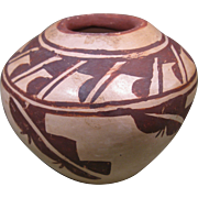 Small Hopi Pueblo Pottery Olla, Red and Black on Buff