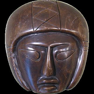 Vintage Japanese Carved Stone Face