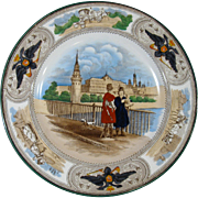 Wedgwood Plate, Kremlin, Moscow, Merchants, Russian Coat of Arms, c. 1905