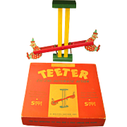 1940s Action Toy - TEETER, with Zig-Zag Automatic Action, Original Box
