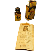 Circa 1939 Dentists' Sample Bottle, Box, Paper - CO-RE-GA Denture Adhesive