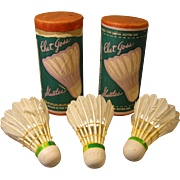 Badminton Shuttlecocks, Chet Goss c.1940, Two Containers - One Unopened