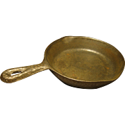Early 1900s Cast Iron Toy Skillet (Mini Skillet), Hammered