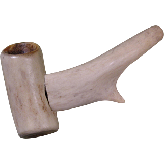 Vintage Antler Pipe, Hand Made, Circa Early 1900s