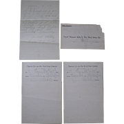 Virginia City and Red Bluff Stage Co., 1897 Letter, Envelope, Two 1894 Waybills