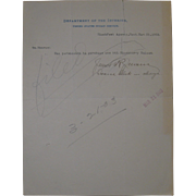 1903 Document Indian Service Blackfeet Agency