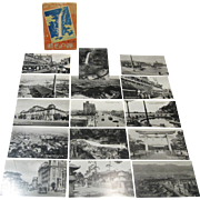"1930s Kobe, Japan Set of 15 Real Photo Postcards, ""Fine Views of Kobe"", Paper Jacket"