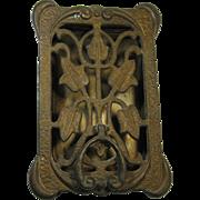 Door Knocker with Peephole, Speakeasy, Brass, c. 1930, by PEABODY-ACKER, Inc.