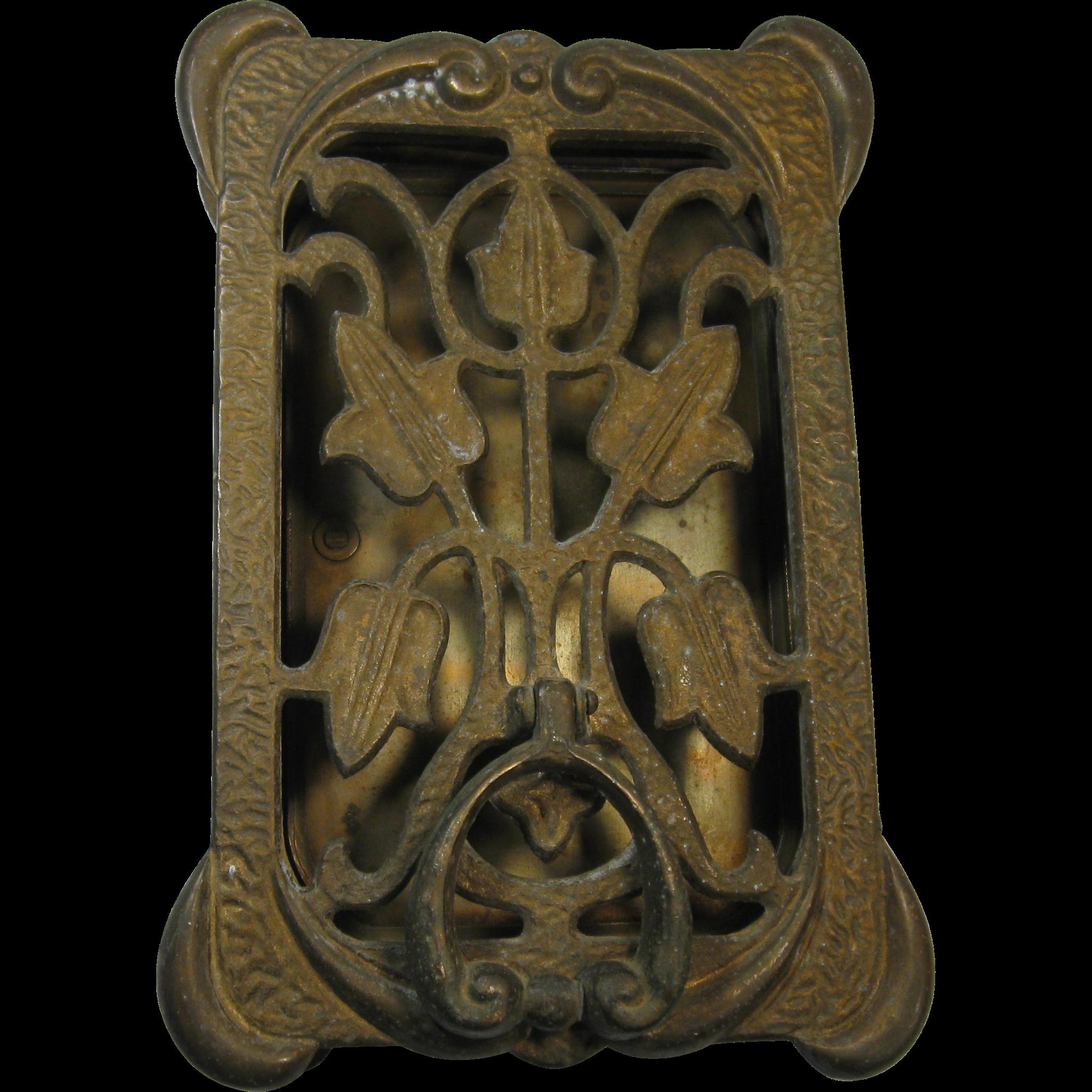 Door Knocker With Peephole, Speakeasy, Brass, C. 1930, By PEABODY ACKER,  Inc.