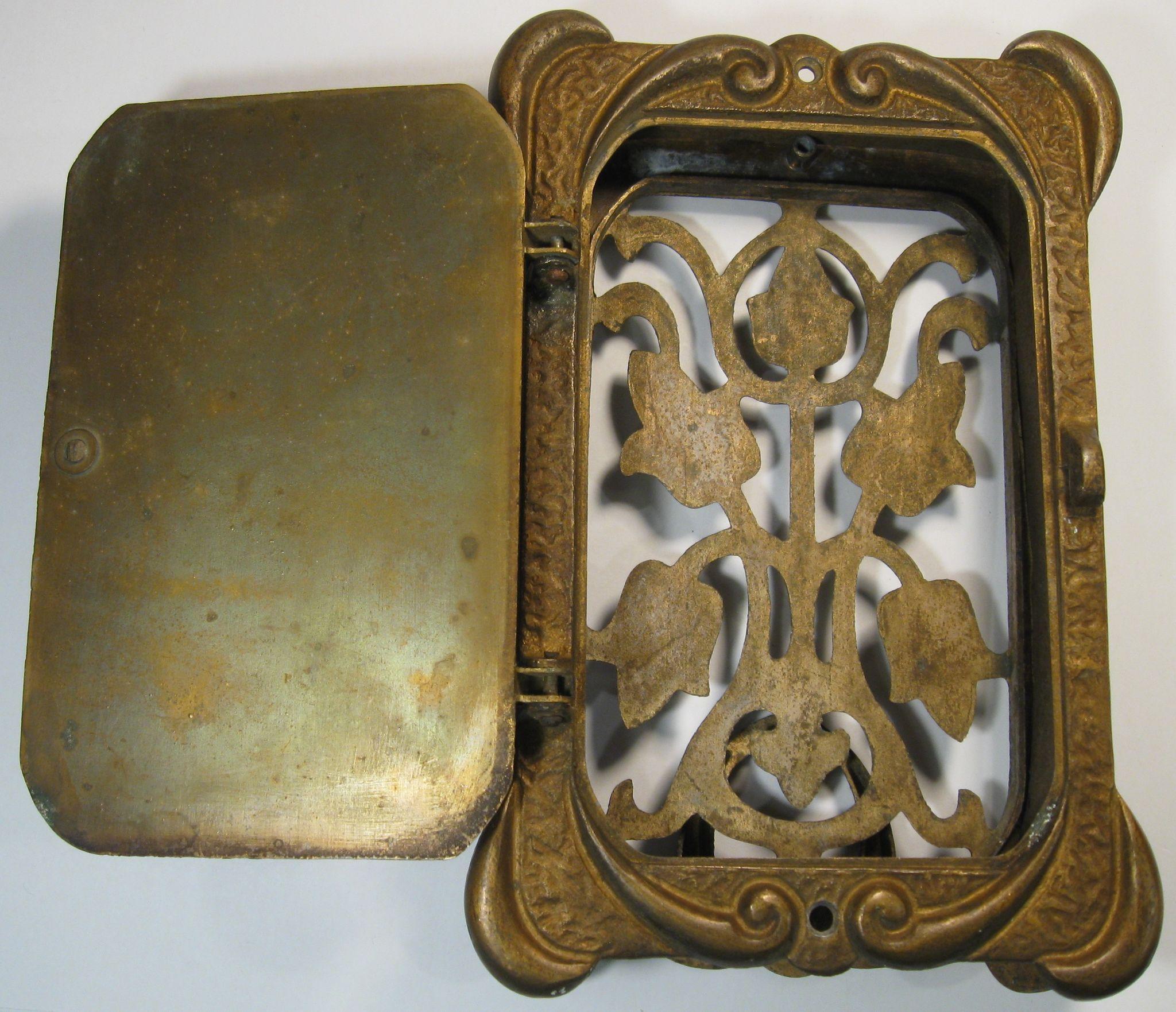 Door Knocker With Peephole Speakeasy Brass C 1930 By