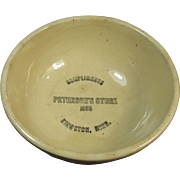 Watt OvenWare Ath-Tex Bowl, Advertising, Peterson's Store, 1955, Kingston, Minn.