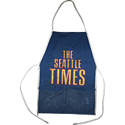 """THE SEATTLE TIMES"" Newspaper Newstand Vendor Apron, circa 1960s"