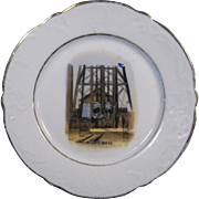 "c.1900 Butte, Montana Mining Plate, ""Going on Shift"", Davis & Weimescary Co."