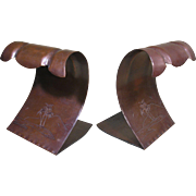 Craftsman Studios Bookends, mid-Century, Utah Copper