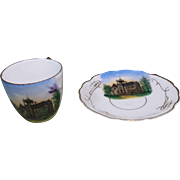 Circa 1910 Souvenir Cup and Saucer, State Normal School, Ashland, Oregon
