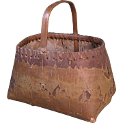 c. 1900 Birch Bark Basket, Eastern Woodland, Native American