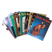 "12 Issues ""Arts of Asia"", from years 1976, 1977, 1978, 1979, 1980"