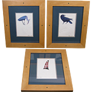 Three Northwest Coast Embossed Card Prints, by Marvin Oliver, Framed with Mats