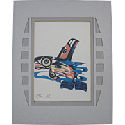 Northwest Coast Embossed Card Print, by Marvin Oliver, with Mat
