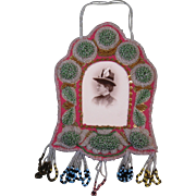 c. 1900 Iroquois Beadwork Picture Frame