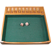 "1950s Dice Game ""SHUT BOX"", Bemis Mfg., Sheboygan Falls, Wisc."
