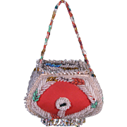 c. 1900 Iroquois Beadwork Box Purse