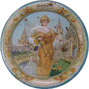 Circa 1915 Ruhstaller's Gilt Edge Lager Tip Tray, Pan Pacific Int'l Exhibition