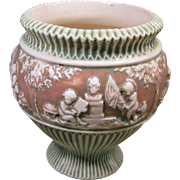 Roseville Donatello Vase or Small Urn, 7 inches tall