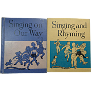 2 Vintage Children's School Music Books Ginn and Co. 1949 & 1950