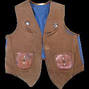 Circa 1950 Lasso'em Bill Child's Cowboy Vest, Size 12