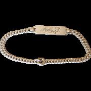 Vintage Sterling Silver ID Bracelet - AMG