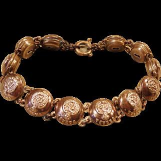WW2 Canadian Military Button Sweetheart Bracelet