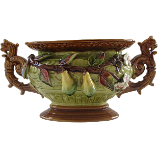 Magnificent French planter/jardinière/centerpiece with handle