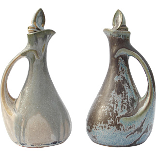 Denbac – French Pottery Art –Oil & Vinegar Cruet