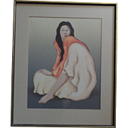 Listed Artist R.C. Gorman Hand Signed and Numbered 34/150 Titled Tasha State 1 Lithograph