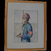 Listed Iranian Artist R.A. Hayrapetian, Tehran 1954.