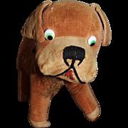 Vintage 1920's Velvet Velveteen Googly Eyed French Bulldog