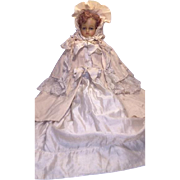 A Very Rare and Superb Antique Marked Auburn Haired LUCY PECK Poured Wax Child Doll, English c.1870's