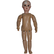 Antique Paris Bebe Tete Depose, size 8, Jumeau Doll, Original Body and Eyes, Head Broken and Glued, 22 inches