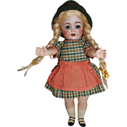Small JDK  Kestner 260 Character Doll, Star Fish Hands, All Original, 8 inches