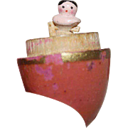 TLC Smallest Wooden Peg Wooden Doll in the World contained in Pink Wooden Egg