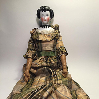 An Antique 'Countess Dagmar' China Doll, German c. 1860's, 21 inches tall