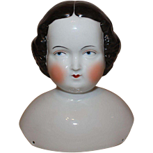 Large Early German China Dolls Shoulder Head, 7 inches tall