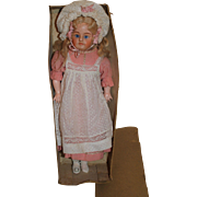 Wonderful German Composition Turned Head All Original Doll, c.1880's, 17 inches