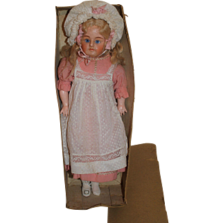 Wonderful Composition Turned Head All Original Doll, 17 inches