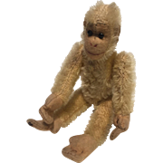 A Small English Alpha Farnell World War I Soldier ( teddy bear) Monkey, Chimp, 6 inches