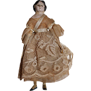 Antique Milliners Model Paper Mache Doll, 6 inches