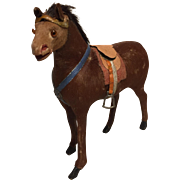 An Antique Miniature Horse to Accessorize with your Dolls or Stable, 4 1/2 inches