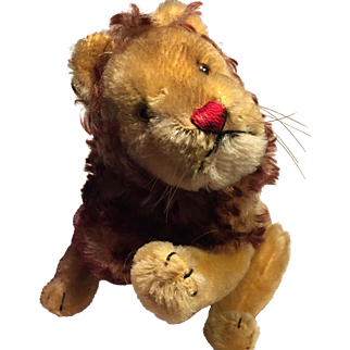 A Lovely Vintage Steiff Lion Teddy Bear